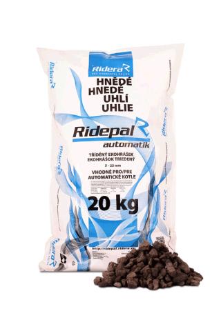 Vrecované bílinské hnedé uhlie orech 2 Ridepal automatik pre automatické kotly - paleta 1 040 kg